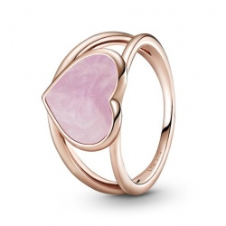 Pierścionek Pandora Rose - Różowe serce 189263C01