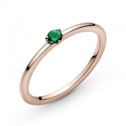 Pierścionek Pandora Rose - Zielone serce solitaire 189259C05