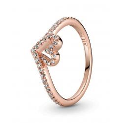 Pierścionek Pandora Rose - Lśniące serce wishbone 189302C01