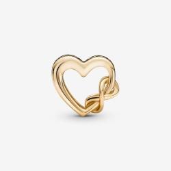"Charms Pandora Gold - Serce ""Kocham Cię Mamo"" z symbolem nieskończoności 759515C00"