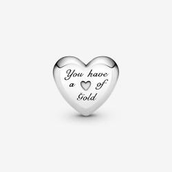 Charms Pandora Gold - Wypukłe serce 799415C00