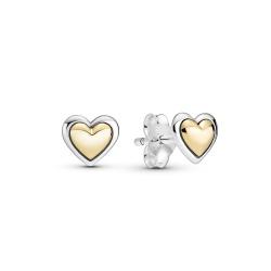 Kolczyki Pandora Gold - Wypukłe serca 299389C00