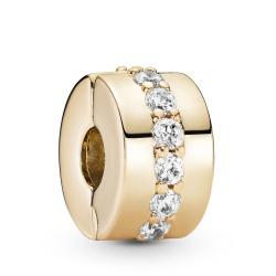 Klips Pandora Gold - Pasmo cyrkonii 759518C01