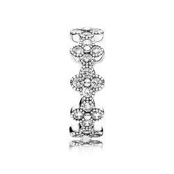 Srebrny pierścionek Pandora, cyrkonie sześcienne