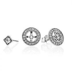 Kolczyki Pandora ze srebra