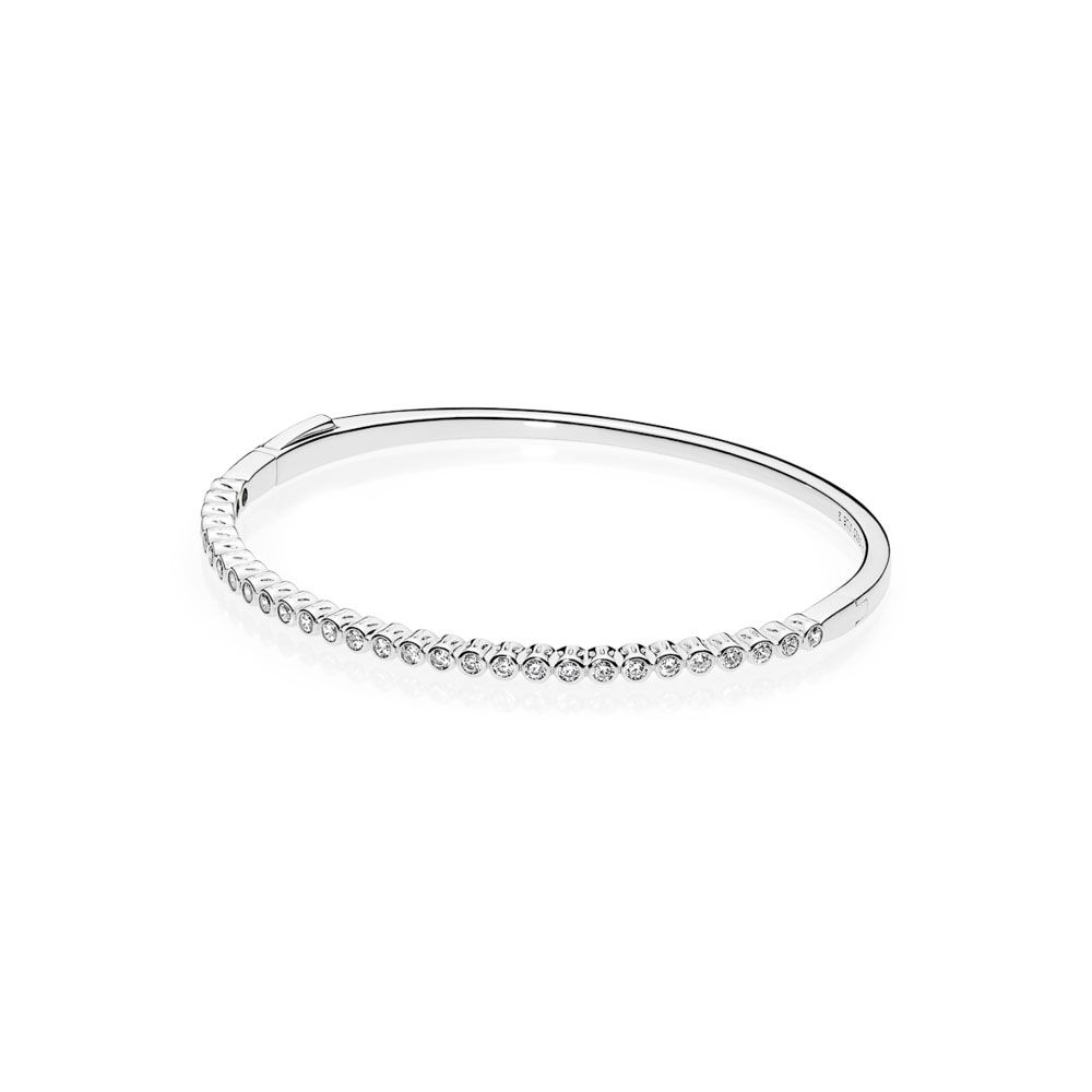 7d396960687a22 Srebrna bransoletka Pandora - bangle z cyrkoniami 590531CZ |...