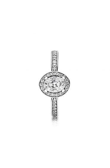 Srebrny pierścionek Pandora, Elegancki Vintage 191017CZ